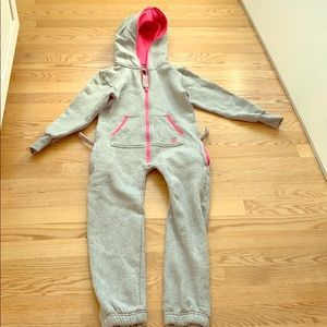 Pink and gray zip-up